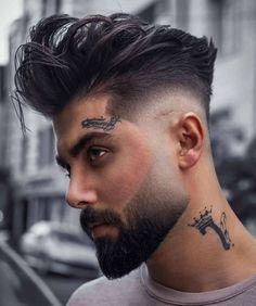 hair beard lineup haircut hairstyle barber salon fade buffalony day night vip world million style cut # fashion Young Men Haircuts, Young Mens Hairstyles, Quiff Hairstyles, Cool Mens Haircuts, Cool Hairstyles, Volume Hairstyles, Fashion Hairstyles, Men's Haircuts, Hair And Beard Styles