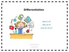 This is a power point that explains differentiation with strategies, tools, and examples to show how math is differentiated by student readiness.  There is a link at the end to my store which has many common core aligned products and differentiated lessons for math.https://www.teacherspayteachers.com/Store/Making-Math-Meaningful