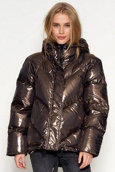 Denim Hunter Down jacket - gold black - Zalando. Nylons, Puffy Jacket, Down Coat, Mantel, Black Gold, Cool Girl, Going Out, Raincoat, Jackets For Women