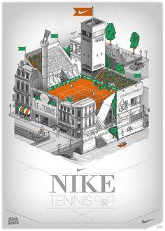 vector, illustration, nike, tennis