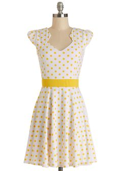 The Story of Citrus Dress in Lemon. It was as if fate knew you'd been looking for that perfect frock to add some serious style to your wardrobe. #white #modcloth