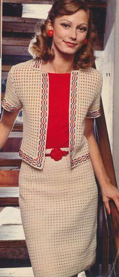 Chaqueta y falda de ganchillo/crochet