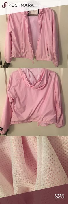 Abercrombie and Fitch Baby Pink Rain jacket Worn a few times but doesn't fit my personal style anymore!! Abercrombie & Fitch Tops