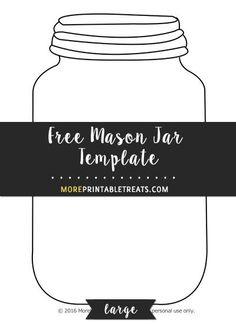 Free Mason Jar Template - Large
