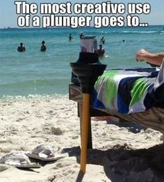 Hmmm...I sure hope it's a brand~spanking' new plunger  bottoms up!