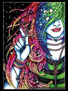 Rainbow dreams by megoboom on DeviantArt Ballpoint Pen Art, We Are Best Friends, Hippie Art, Rainbow Art, Line Drawing, Art Boards, Spiderman, Cool Art, Street Art