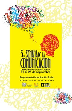 5ta Semana de la Comunicación. #Unicartagena Movies, Movie Posters, Socialism, Activities, Films, Film Poster, Cinema, Movie, Film