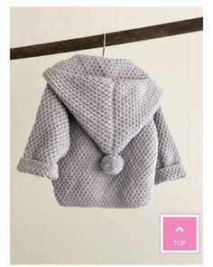 Baby Cardigan, Knitting Kits, Knitting Projects, Crochet Bebe, Knit Crochet, Bordado Popular, Boy Crochet Patterns, Baby Coat, Baby Clothes Patterns