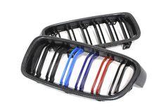 BMW F30 F31 Carbon Fiber Front Grille Dual Slats (2)