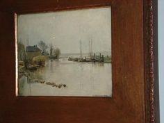 Hans Heremenn Oleo Antigua Pintura En Tela Año 1879 Europa $13,819.94 USD Argentina Arte y Artesanías