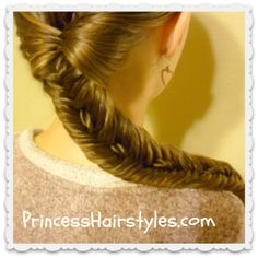 Rope stitched #fishtailbraid #hairstyle tutorial