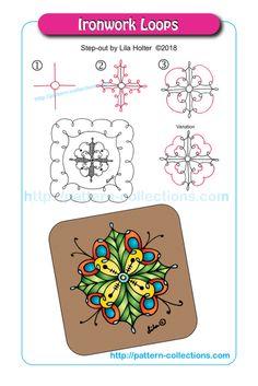Pin by cheryl lujan on zentangle patterns in 2019 Zentangle Drawings, Mandala Drawing, Doodles Zentangles, Doodle Drawings, Tangle Doodle, Tangle Art, Zen Doodle, Doodle Patterns, Zentangle Patterns