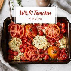 Gebackene Tomaten mit Feta und Knoblauch