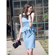 TS wespentaille Contrast Color slanke jurk