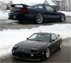 Sleepy Nissan 240SX on proper wheels