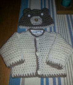 Hst and cardigan set for newborn baby