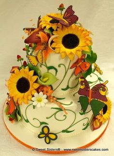 Beautiful birthday cake full of Autumn colors for a Fall birthday