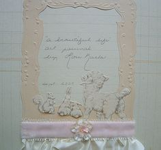 Baby Lamb, Scrapbook Journal, Doll Maker, Mini Albums, Paper Crafts, Journal Ideas, Antiques, Frame, Inspiration