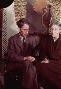 Leonard Woolf and Virginia Woolf, 1939, by Gisèle Freund. National Portrait Gallery, London.