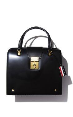 polished doctor's style satchel- Thom Browne Mrs. Thom Bag