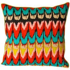 Maha Pillow Bohemian Elements ❤ liked on Polyvore