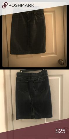 Jean skirt by J.Crew in good condition Jean skirt and free  j.Crew tee shirt with purchase of the skirt Skirts Midi