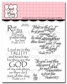 Sweet 'n Sassy Stamps - Wait on the Lord Clear Stamp Set, $11.95 (http://www.sweetnsassystamps.com/products/Wait-on-the-Lord-Clear-Stamp-Set.html)
