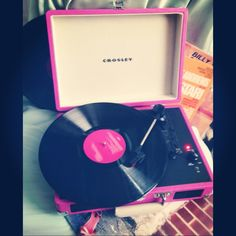 ⚓  #crosley #record #recordplayer #vinyl #pink