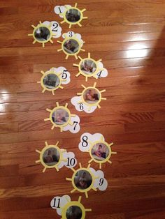 You Are My #Sunshine - first birthday #party monthly photo display! I am so