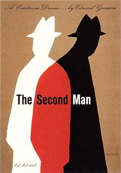 penguin book cover Art Cover Poster Visual Graphic Composition Mixer Artwork Design book cover Design The Second Man book cover by Paul Rand. Illustration Design Graphique, Illustration Photo, Art Graphique, Best Book Covers, Vintage Book Covers, Eduardo E Monica, Old Posters, Movie Posters, Minimalist Book