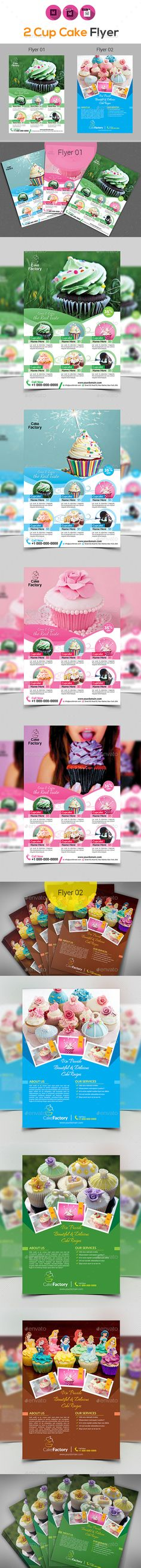Cake Shop Flyer Bundle — InDesign INDD #drink #coffee • Download ➝ https://graphicriver.net/item/cake-shop-flyer-bundle/18837870?ref=pxcr