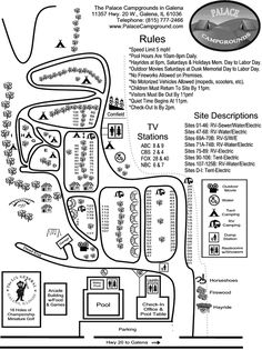 Wisconsin Riverside Campground Map Campgrounds