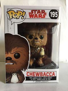Funko POP! Star Wars The Last Jedi CHEWBACCA w/ PORG 195 Vinyl Bobble Head  | eBay