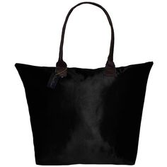Peach Couture Kylie Solid Black Plage a Main Waterproof Beach Tote... ($22) ❤ liked on Polyvore featuring bags, handbags, tote bags, black, zippered tote, black tote, black tote bag, black purse and waterproof beach bag
