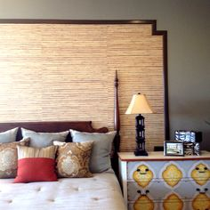 Wallpaper and wood trim