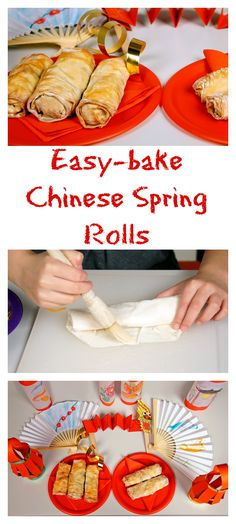 easy baked chinese spring rolls