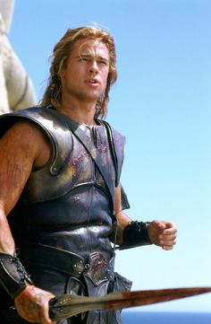 "Brad Pitt as Achilles in ""Troy.""  Hot flash!!"
