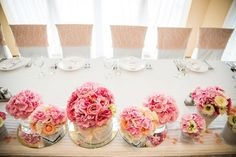 Flower table wedding decoration
