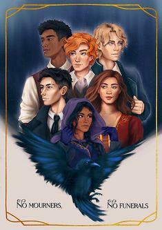 Six Of Crows Characters, Book Characters, Fanart, Funeral, Crow Books, Ya Books, Crooked Kingdom, The Grisha Trilogy, Fictional World
