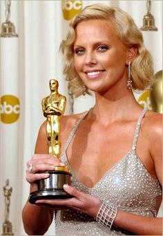 """Charlize Theron 2003. Wins Best Actress Oscar for her performance in """"Monster"""""""