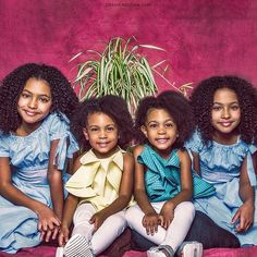 The McClure twins with their twin friends Cute Black Babies, Cute Twins, Cute Baby Girl, Mom And Baby, Baby Love, Cute Babies, Brown Babies, Twin Girls, Twin Babies