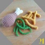Tuto: La dinette en crochet #21 Poulet, frites et/ou haricots verts