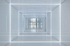 Glass office with mirrored walls for Soho China by AIM Architecture