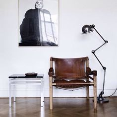 The Jildé Lamp next the true Safari Chair by Arne Norell