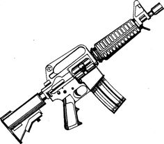 Image result for M4 Assault Rifle Drawing
