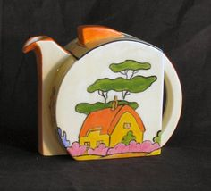 Clarice Cliff teapot - love her designs