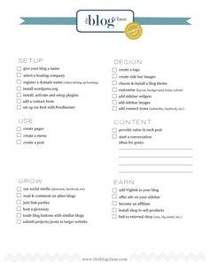 Blog checklist (printable pdf)
