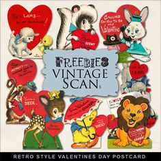 Click HERE  to download New Freebies Kit of Retro Postcards - Valentine's Day . And see other Vintage Freebies. Enjoy!  Please, leave a...