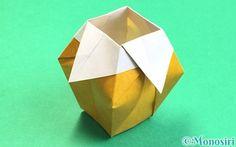 折り紙で折った花瓶 Origami, Table Lamp, Vase, Projects, Seal, Home Decor, Log Projects, Table Lamps, Blue Prints