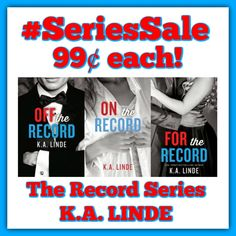 ❥❥❥ 99¢ Sale! ❥ #SeriesSale! ❥ #FreeKU! ❥❥❥  The Record Series by K.A. Linde  All 3 books on sale for 99¢ each!  Normally $3.99 EACH!   Meet the hottest politician out there! #voteformaxwell  ❥❥❥ BUY LINKS ❥❥❥  ❥ Off the Record → http://geni.us/fqGi ❥ On the Record → http://geni.us/qmWPoG ❥ For the Record → http://geni.us/g7oWak